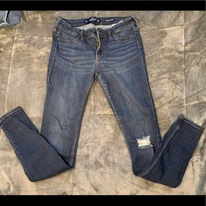 Hollister jeans with tear